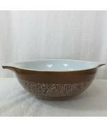 Vintage Pyrex Woodland Brown Large 4 Quart #444 Cinderella Mixing Bowl U... - $39.55