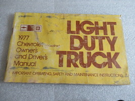 PM164 1977 Chevrolet Gasoline Models Owner's & Driver's Manual Book - $8.40