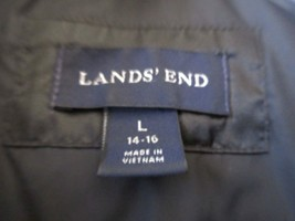 Lands End ,  Goose Down ,  Winter Coat Black , Ladies Large , 14-16 - $49.50