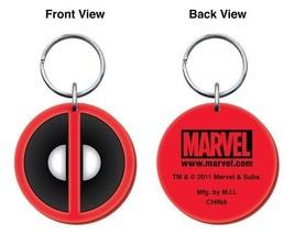 Marvel Comics Deadpool Logo Colored Soft PVC Key Ring Keychain, NEW UNUSED - $7.38