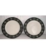 Pottery Barn BONGO BLACK 7 1/2 inch Salad Plate  set of 2 Unused - $17.99