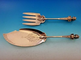 Bust by Gorham Sterling Silver Fish Serving Set 3D Brite Cut Figural Museum - $2,550.00