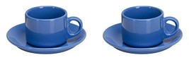 Omniware 1013035 4 Piece Coffee Delight Espresso Mugs & Saucers Set, Sim... - $20.12