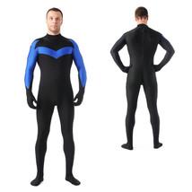 Ms. Marvel Comics Spandex Zentai Superhero Tight Jumpsuit Costume - $42.26
