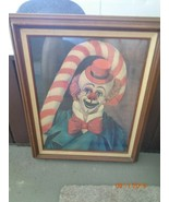 "RED SKELTON "" CANDY CANE CLOWN "" ~ ORIGINAL FRAME INCLUDED ~ - $558.84"