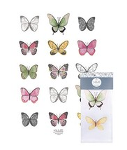 Alette Butterflies Tea Towel Ashdene 100% Cotton White Butterfly New  - $14.84