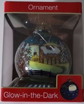 American Greetings Christmas Church Christmas Ball Glow in Dark Ornament NIB - $4.00