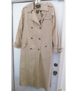 RALPH LAUREN Classic Trench Rain Coat Long Military Style Button Liner T... - $119.94