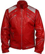 Men's Michael Jackson Beat King of Pop Retro Biker Style Leather Jacket   - $68.40+