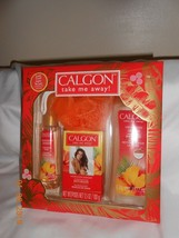 New Calgon Hawaiian Ginger gift set body wash pouf beads fragrance spray mist - $12.92