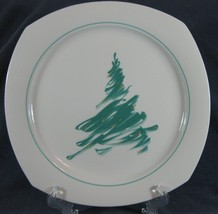 Nikko Evergreen #307 Dinner Plate Sketched Green Christmas Tree Quadrille - $11.99