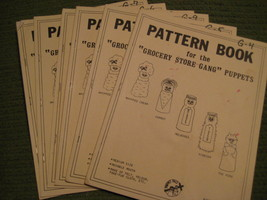 Original Vintage 1981 Lot of 6 GROCERY STORE GANG PUPPET Pattern Books 257 - $19.27