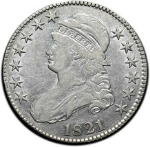 1821 Capped Bust Silver Half Dollar 50¢ Coin Lot# A 387