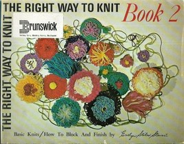 Brunswick The Right Way to Knit Book 2 Evelyn Stiles Stewart 1969 Block ... - $13.85