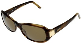 Max Mara Sunglasses Women Brown Tortoise Rectangular MM 904/S 2CM X7  - $177.21