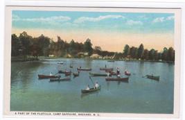 Boating Camp Sapphire Brevard North Carolina 1920s postcard - $5.94