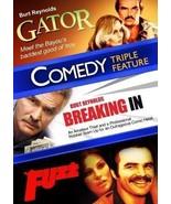 Burt Reynolds Triplo: Gator- Breaking In- Fuzz- Tre Comedies Films- Nuov... - $16.80