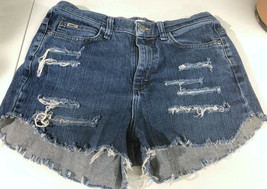 Lee Jeans Distressed Blue Jean Short Shorts Booty Size 8 Long - $14.58