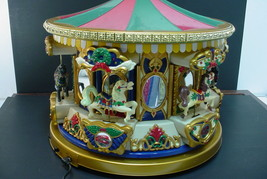 1994 Large Mr.Christmas Animated (Holiday Merry Go Round Carousel) 21 Songs - $94.04