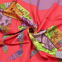 NWOT Auth Hermes Scarf A CHEVAL SUR MON CARRE 90cm Silk BALI BARRET - $359.95