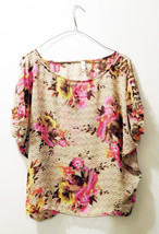 Xhilaration Floral Print w/Cut Out Criss Cross Shoulder/Sleeves - Size M... - $12.73