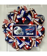 Buffalo Bills Football Sports Wreath Handmade Deco Mesh - $94.99