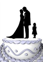 Meijiafei Happy Family-A Girl Decorative Cake Toppers for Wedding Bridal Shower - $12.35