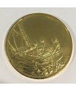 24k Gold On Sterling Silver Breezing Up 100 Greatest Masterpieces Medal ... - £120.27 GBP