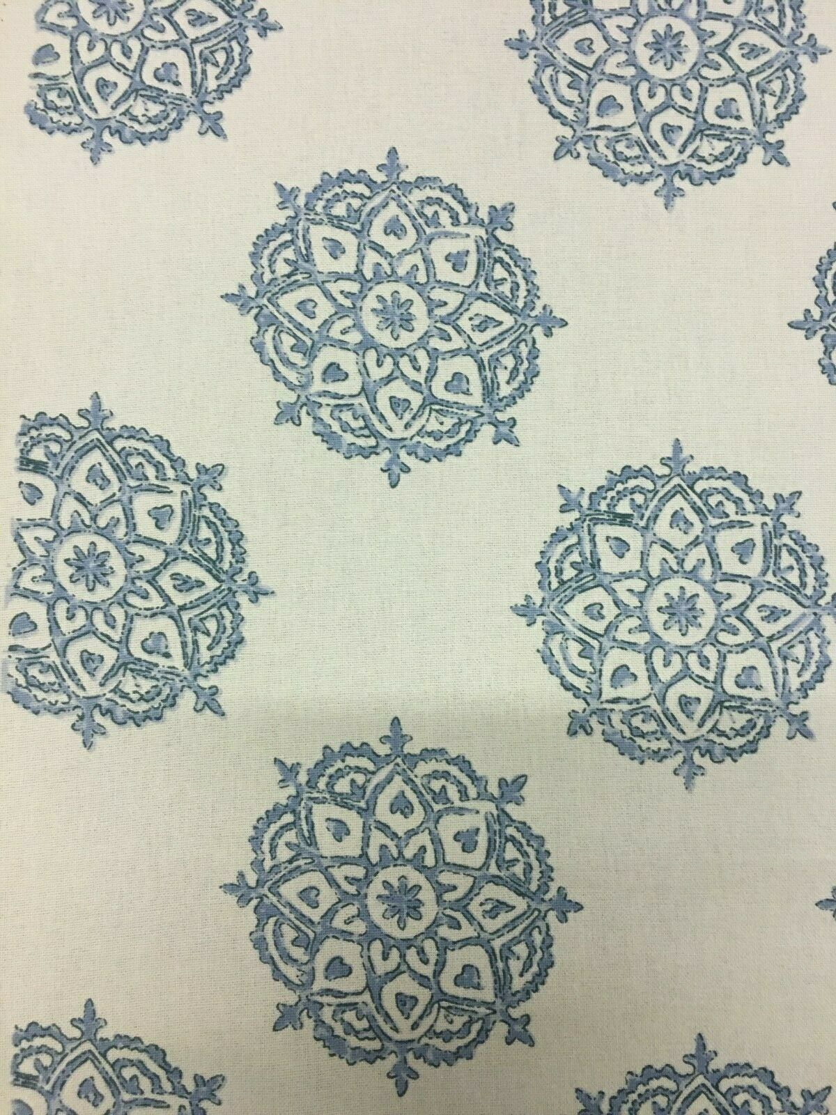 Laura & Kiran Tantra Handprint Blue 100% Cotton Multi-Purpose Fabric 4.125 yds