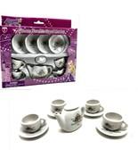 Mini Tea Set Porcelain 10pc Tea Time Party Sweet Princess Toy - $19.79