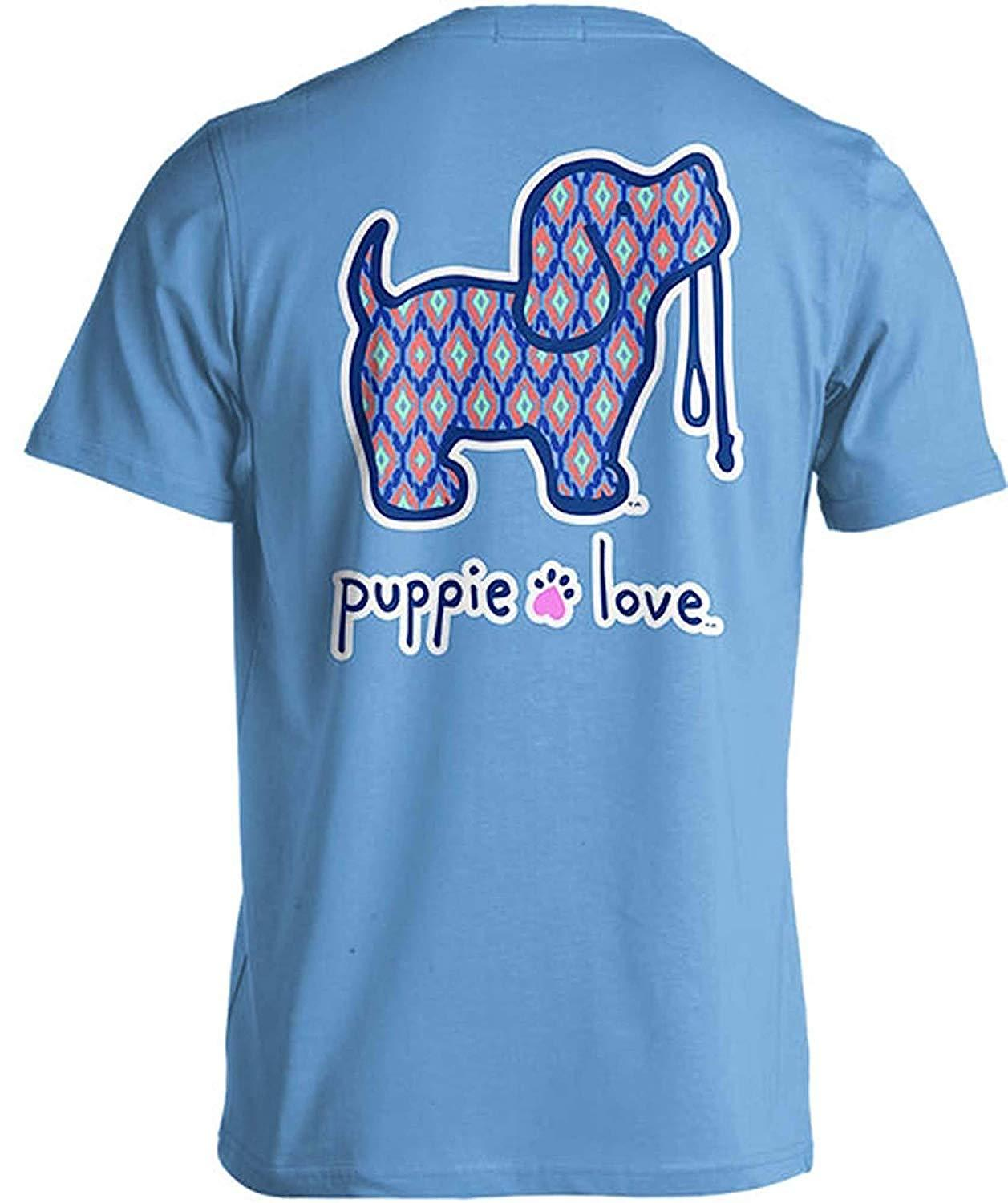 Puppie Love Rescue Dog Adult Unisex Short Sleeve Graphic T-Shirt, Ikat Pup