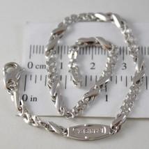 Armband aus Weißgold 750 18K, Jersey Bone Abwechselnde A Onda, Infinito,... - $633.51