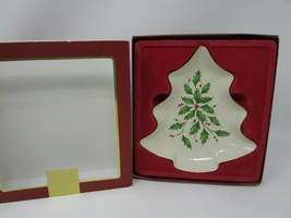 "LENOX HOLIDAY DIMENSION COLLECTION CHRISTMAS TREE CANDY DISH 7.75"" NEW I... - $14.80"