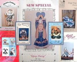 Vintage Bunny Rabbits Dolls Sewing Craft Lot 7 Patterns 1988-1995 DIY - $31.50
