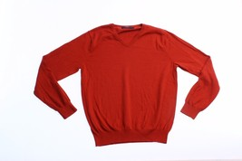 J. Crew Mens Sweater Size L Large Burnt Orange Pullover Tapered Business... - $19.05