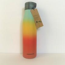 NEW Summer 2019 RAINBOW Starbucks Magnetic lid Stainless Steel Water Bot... - $34.64