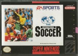 Original Vintage 1994 Nintendo Snes Fifa International Soccer Cib w/ Manual - $37.18
