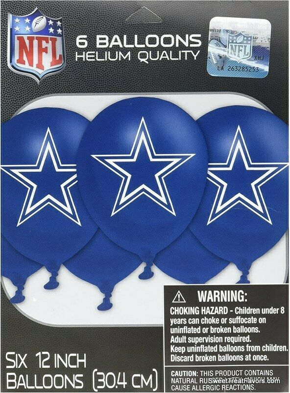 Primary image for DALLAS COWBOYS Football Balloon Latex 6PCS Party NFL Birthday Decoration SPORTS