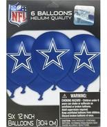 DALLAS COWBOYS Football Balloon Latex 6PCS Party NFL Birthday Decoration... - $8.86