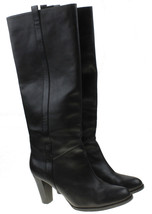 Ann Taylor LOFT Womens Black Leather Tall Fashion Pull-on Boots Size 5.5 M - $31.40