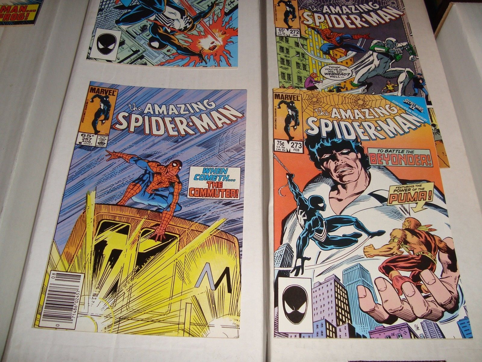 Amazing Spider-Man #266 - 273 Marvel Comic Book LOT  Of 8 1985-86 NM Condition