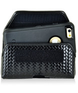 Genuine Leather Basket Weave Side Case fits iPhone Xs Otterbox Defender ... - $44.99