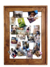 Wooden Clothesline Collage Picture Frame 20 x 30 | Attach Photos w/ Clot... - $75.00