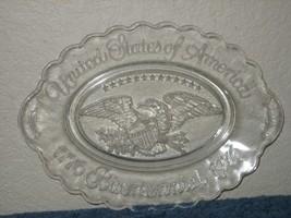 Vintage Avon Bi-Centennial Clear Glass Collector Plate USA 1776-1976 - $9.46