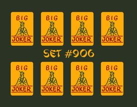 Mah Jongg Jong Mahjong Natural Big Joker Stickers - Set #906 ** Free Shi... - $22.22