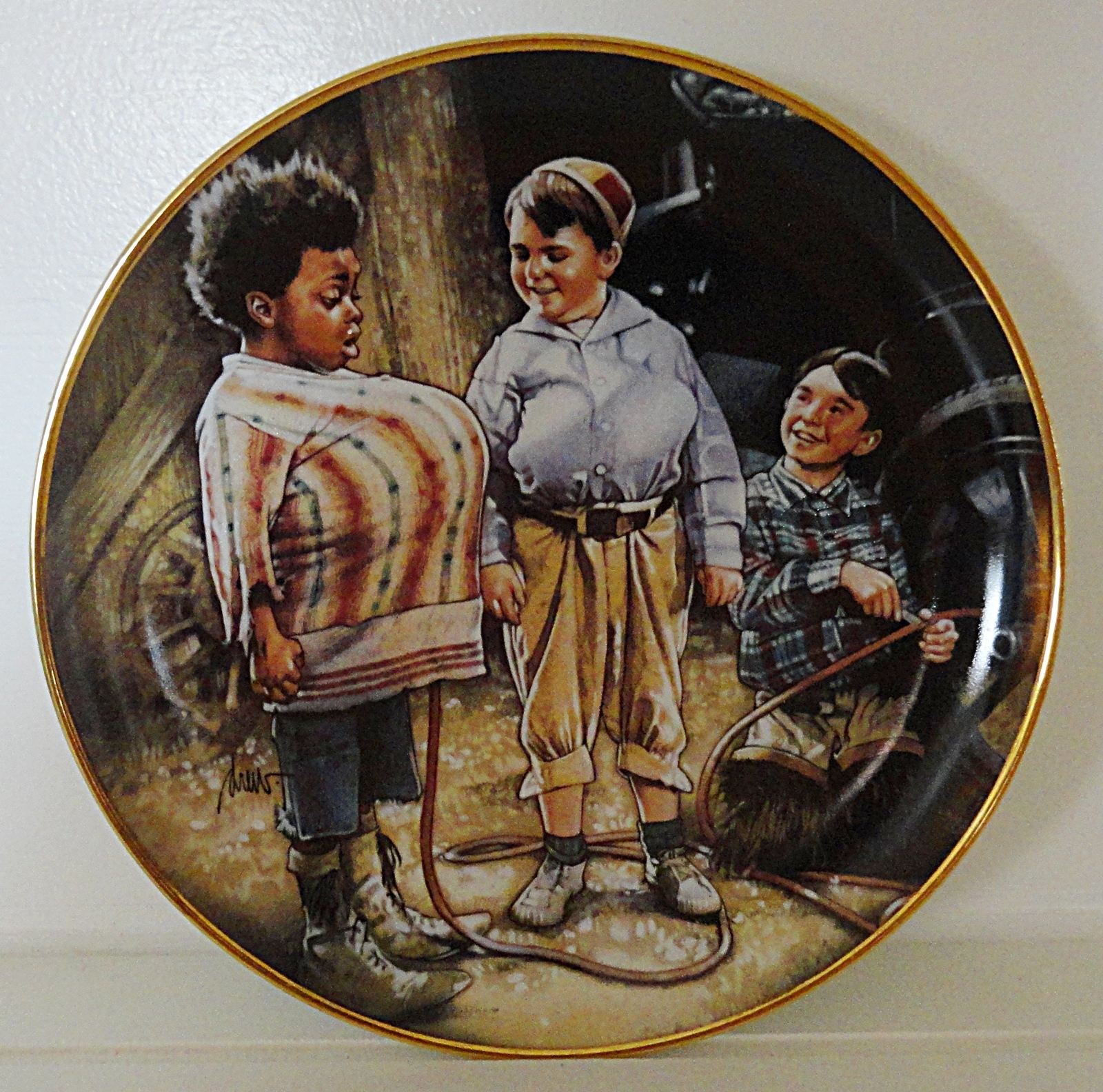 Primary image for Little Rascals Fill 'er Up Franklin Mint Collector Plate Porcelain