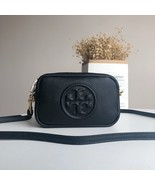 Tory Burch PERRY BOMBÉ Mini Bag Women Crossbody Small Handbag Leather Black - $235.00