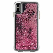 Case-Mate iPhone X Rose Gold Waterfall Clear Plastic Protective Phone Ca... - $7.44