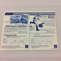 Vtg 1984 GI JOE Order Form MANTA ~ Poster ~ Head & Wrist Bands ~ Hasbro ... - $6.80