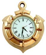 Brass Ship Anchor Nautical Roman Numeral Wall Clock Nautical Home Decor - $97.52